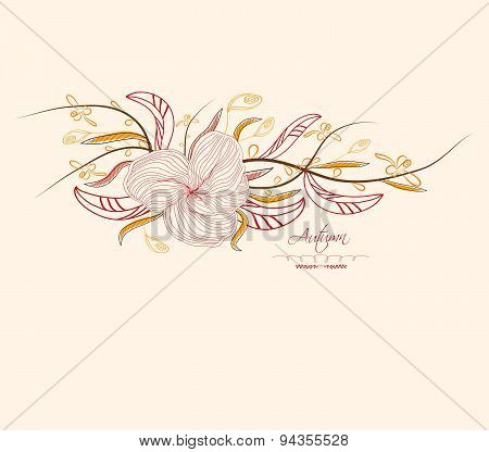 Autumn abstract floral background