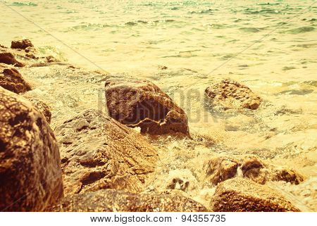 Croatian Seascape - Vintage Version
