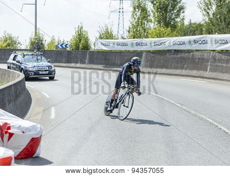 The Cyclist John Gadret- Tour De France 2014