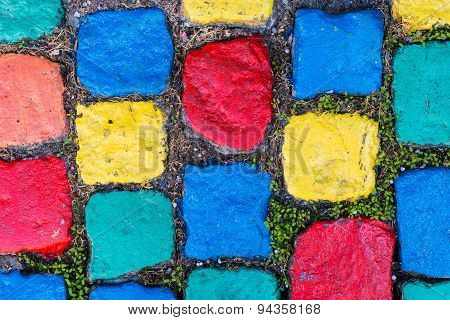 Pavement - Painted Cobblestones