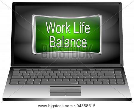Laptop computer with Work Life Balance button