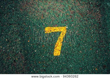 Seven Number Dark Background