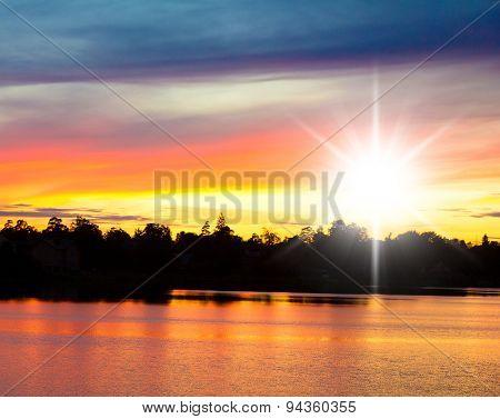 Bay View Fiery Backdrop