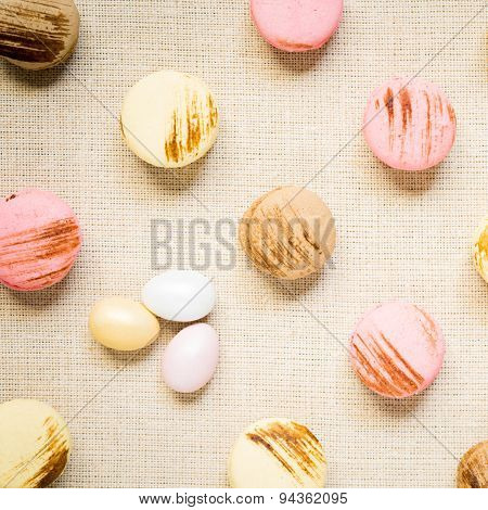 Fruit Tarts On A Wooden Background