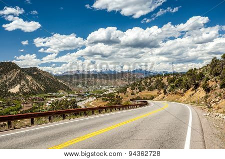 Highway Leading To Mountainous Region Of Durango