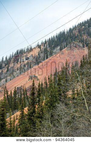 Colorful Mountains Near Silverton, Colorado
