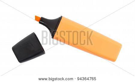 Orange Highlighter Isolated