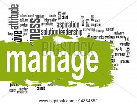 Manage Word Cloud With Green Banner