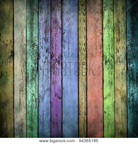 Old color wood