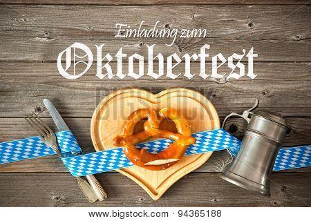Oktoberfest beer festival template background. Invitation to the Oktoberfest