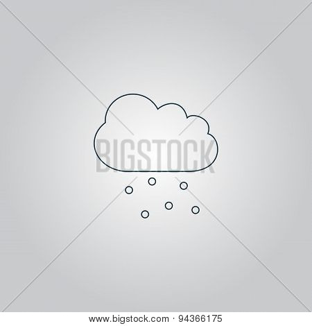 Cloud with hail