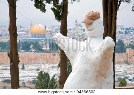Snow In Jerusalem.