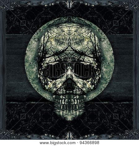 Skull Decorative Dark Artwork