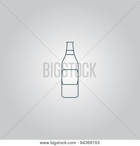 Bottle of beer - vector illustration