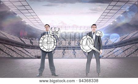 Corporate army against stadium