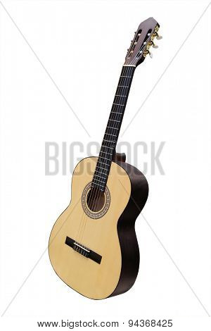Guitar isolated under the white background