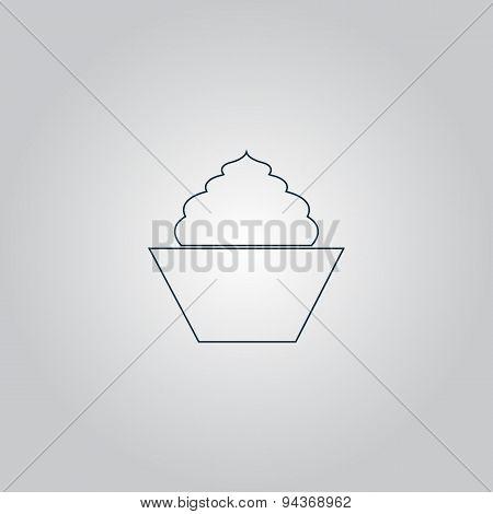 cupcake, web icon. vector design