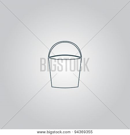 Bucket vector icon