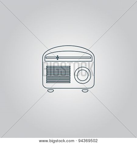 Retro revival radios tuner vector illustration.