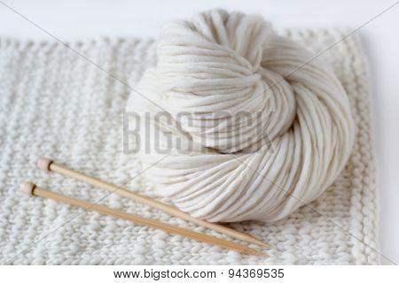 Knitting White Yarn
