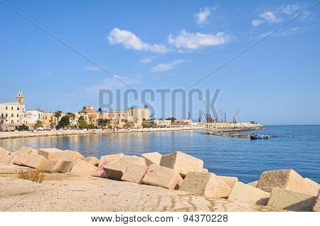 Panoramic view of Bari. Puglia. Southern Italy.