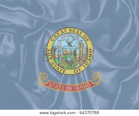 Idaho State Silk Flag