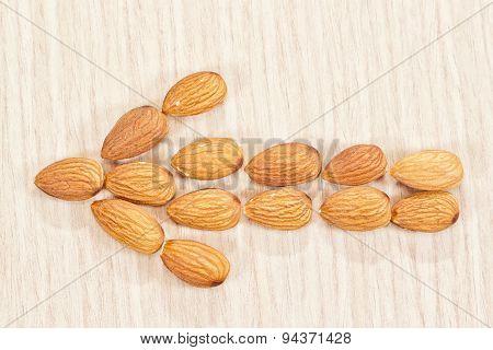 Arrow Left Of Almonds