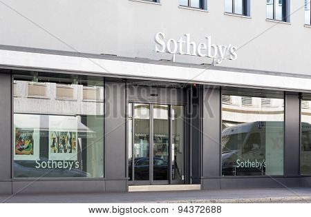 Entrance Of The Sotheby's Office In Zurich