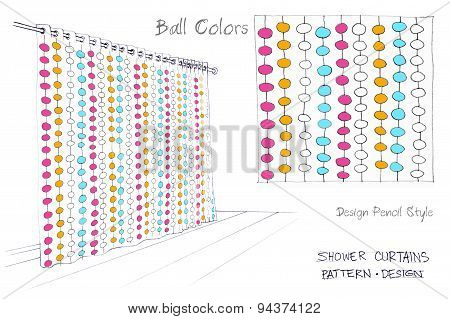 Shower Curtains Ball Colors