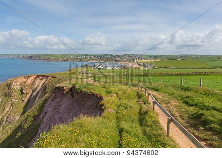 South west coast path towards Thurlestone South Devon England UK from the direction of Hope Cove