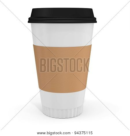 3D Coffee Cup With Blank Label