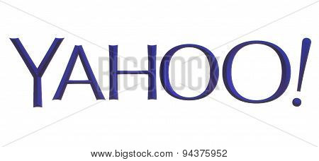 KIEV UKRAINE - MAY 26 2015:Yahoo logotype
