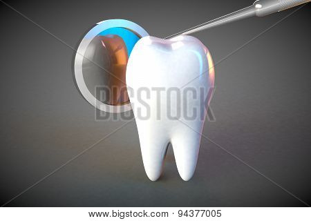 Tooth Molar Tooth Dental Hygiene Dentist 3D Grey