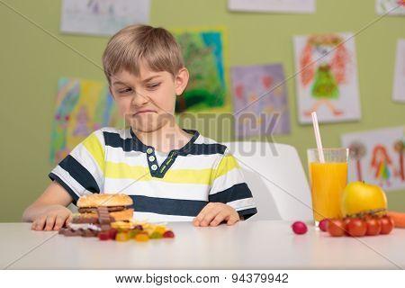 Boy Pulling A Face