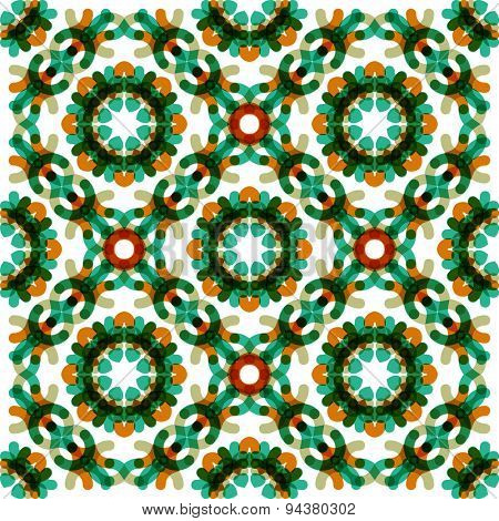 Seamless vector geometric abstract pattern. Creative round shapes made of short lines. Modern background
