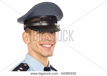 Smiling yooung policeman