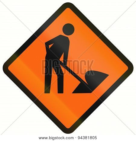 Workers In Road Ahead