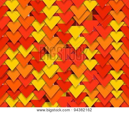 Abstract background of color triangles. Raster version