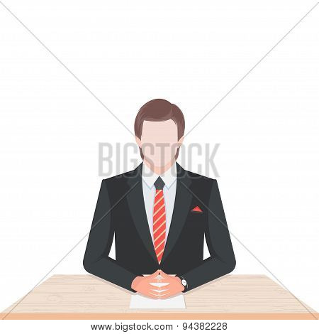 Vector Illustration Of Man