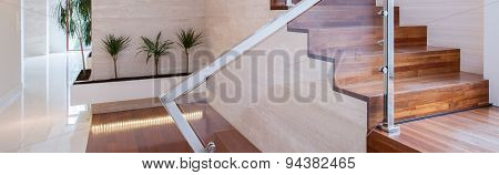 Close-up Of Wooden Steps