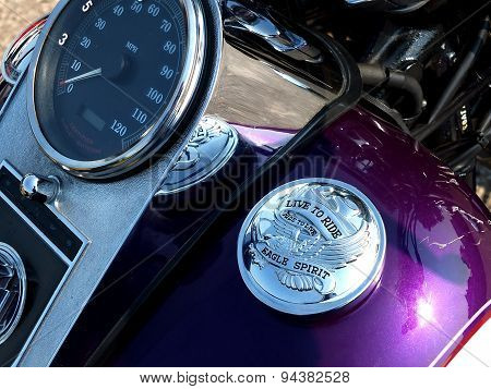 Detail of Harley-Davidson