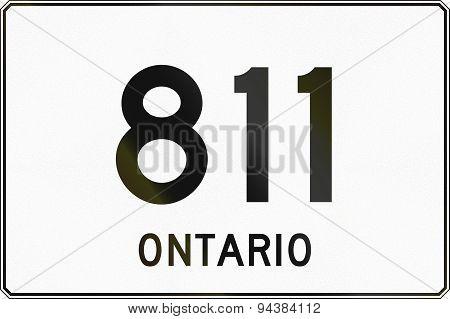 Ontario Highway Sign 811