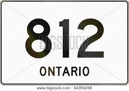 Ontario Highway Sign 812