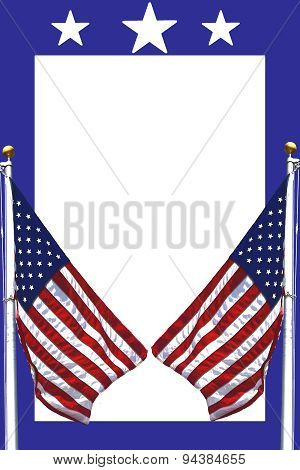 American Flags Stationary