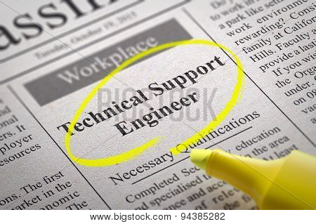 Technical Support Engineer Vacancy in Newspaper.