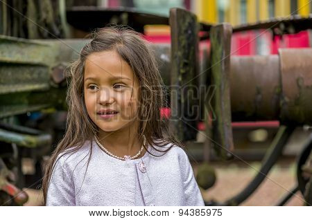 Thai Girl With Train Buffer