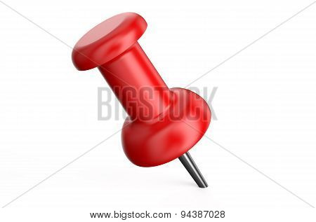 Red Push Pin Closeup