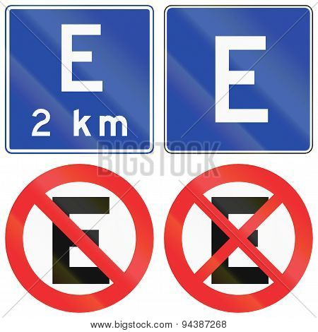 Parking Signs In Chile