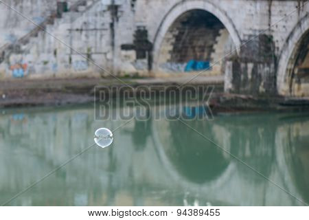 Bubble Soap On Tevere River