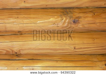 A Log Cabin Wall As A Background